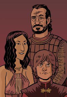 Game of Thrones: Tyrion, Shae, Bronn