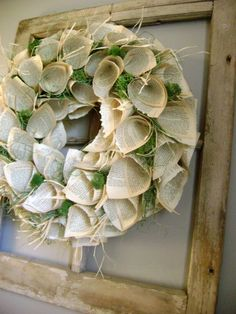 Prettiest one I've seen! Vintage Paper Wreath