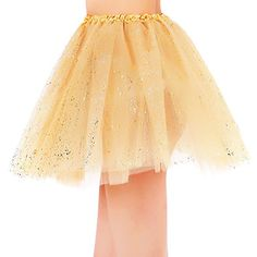Women's Classic 3 Layered Tulle Sparkling Sequin Tutu Skirt, Golden - It's Tutu TimeShow off your girly side with this lovely sequined tutuThis adorable tutu is perfect for special 5K runs, 80's theme parties, bachelorette getaways, birthday celebrations, and dance events!Indulge in this super cute costume accessory for all of your extra special events this year Ma...