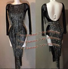 L854 women Ballroom Rhythm salsa Latin samba swing dance dress US 8 sexy