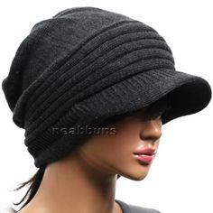brim-BEANIE-mens-womens-Cap-Hats-Knit-Crochet-Rasta-b29