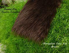 SALE 15 Dollars Mongolian Faux Fur  Brown        by NonnaMiaCC, $15.00