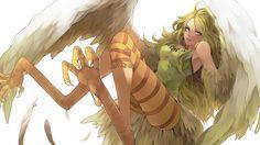 Monet Harpy One Piece HD Wallpaper Teebohne Wings 1080p