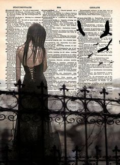 Gothic ghost girl art print beautiful creepy girl by Loft817, $7.99