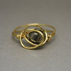 Dark Silver and Gold Statement Ring - $44.00