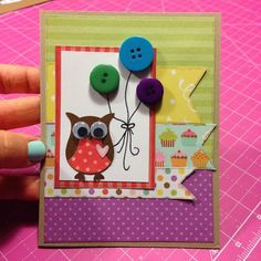 Stampin Up Owl Punch : Birthday Card
