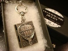 Victorian Style Hot Air Balloon Book Locket by ClockworkAlley