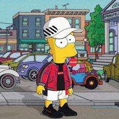 "9,650 lượt thích, 52 bình luận - Olga Wójcik | graphic designer (@machonis) trên Instagram: ""VIBES ____________________ #TheSimpsons #Simpsons #BartSimpson #barthood #offwhite #supreme…"""