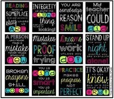 **Introductory price!  I had so much fun making these, I plan to add to it in the next few weeks..When I do, the price will increase!**Are you looking for new classroom decor for next year?  This set of inspirational subway art will help jazz up your classroom!