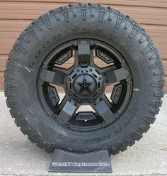 Black XD Rockstar 2 w/ Goodyear Duratrac tires Goodyear Duratrac, Truck Rims And Tires, Jeep Wheels, Girl Stuff, Jeeps, Image, Black, Black People, Jeep