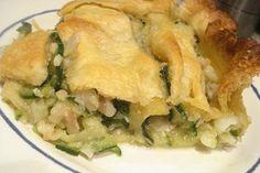 Tarta de bacalao y calabacines (Tortino di baccalá e zucchine)