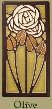 Dard Hunter Tea Rose 4x8 Tile