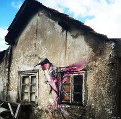 Steet Art by L7m - Guarda, Portugal #streetart #portugal
