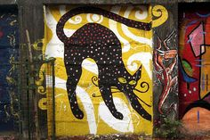 Black Cat Graffiti ~ Bombay, India