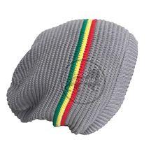 f1bce90265f23 Rasta Dread Dreadlocks Tam Hat Beret 100% Cotton Cap Reggae Marley Jamaica  M L