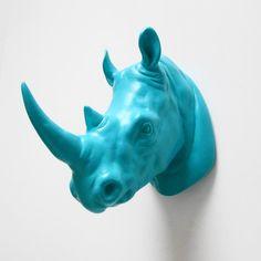 Kruger, Gift for Him, Rhino Head, Faux Taxidermy, Rhino, Faux Rhino Head, Faux Animal Head, African Decor, Blue Rhino Head, Hodi Home Decor on Etsy, $36.00