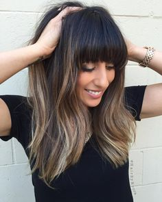55 Dope Long Haircuts with Bangs: Tips for Wearing Fringe Hairstyles 55 Dope Lange Frisuren mit Pony Long Haircuts With Bangs, Long Fringe Hairstyles, Long Hair With Bangs, Short Hair Updo, Easy Hairstyles For Long Hair, Long Hair Cuts, Hairstyles With Bangs, Straight Hairstyles, Bob Haircuts