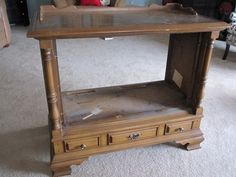 instructions on how to re-purpose an old TV console...we have one from my MIL's house and I'm going to try this...someday! and when I do I'll post photos!   haha @Karen Smith  :)