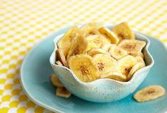 Croustilles de bananes cuites au four