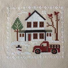 #littlehouseneedleworks #crosstitchersofinstagram #farmhousechristmas