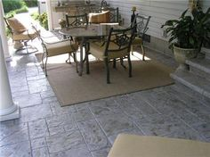 Photo Gallery - Concrete Patios - Carterville, IL - The Concrete Network Pool Porch, Backyard Patio, Backyard Landscaping, Diy Stamped Concrete, Cement Patio, Concrete Patios, Concrete Color, Concrete Overlay, Patio Pictures