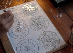 йоЖЖик из тумана - Рабочее  Blog shows how the glass was placed for snowflakes,