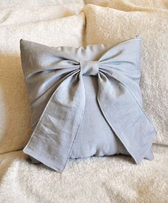 DIY bow pillow but I would use different fabric