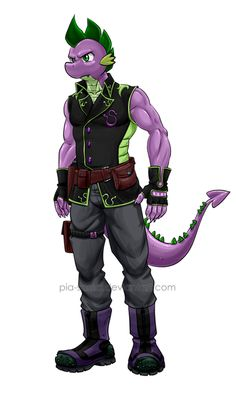 Spike the Dragon - Rogue Diamond Outfit by Pia-sama on DeviantArt My Little Pony Comic, My Little Pony Characters, My Little Pony Pictures, Mlp Spike, Diamond Comics, Mlp Pony, Pony Pony, My Little Pony Wallpaper, Furry Drawing