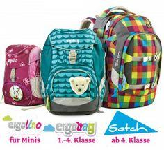 Ergobag Rucksackfamilie. Den passenden Rucksack für Kinder vom Kindergarten bis in die Oberstufe.