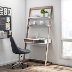 Shop Furniture of America Tali Contemporary Leaning Writing Desk - On Sale - Overstock - 20543714 Decor, Furniture, Leaning Desk, Solid Wood Desk, Desks For Small Spaces, Furniture Of America, Stylish Desk, Simple Room, Cheap Office Furniture