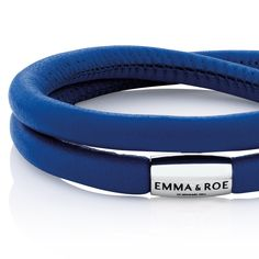 Sterling silver & cobalt leather bracelet - exclusive to Emma & Roe. #AW15 #newin #wildhearts #charms #jewellery #jewelry #leather