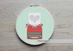 borduurpatroon typemachine LOVE,  PDF, **direct te downloaden** door Happinesst op Etsy https://www.etsy.com/nl/listing/214785086/borduurpatroon-typemachine-love-pdf