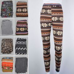 Chic Women Ladies Skinny Colorful Stretchy Pencil Pants Trousers 8 Patterns in Clothing, Shoes & Accessories | eBay