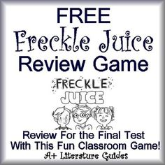 This is a Freckle Juice Freebie!  It is a classroom test review game for the novel, Freckle Juice by Judy Blume. These questions cover the full range of the Reading Literature Common Core Standards.
