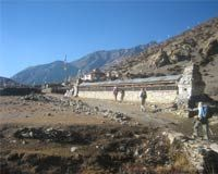 Buddhist Manewall at Ngwal... after Kangla Pass from Nar Phu Valley
