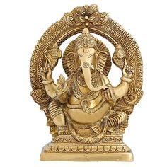 Statues And Sculptures Hinduism Symbol God Figurine Ganesha 8 inch ShalinIndia http://www.amazon.in/dp/B010M3JS98/ref=cm_sw_r_pi_dp_Dmu7vb1AWJSAV