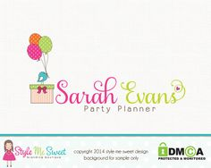 Sarah Evans Party Planner Premade Logo