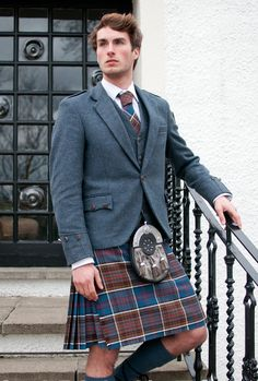 "Informal day wear (noting that ""informal"" is coat and tie, not casual).  The sporran dresses it up somewhat."