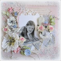This scrap page is just Gorgeous!!   Expressing from my Heart and Soul: Sweet