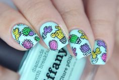 Cactus Party! ~ Glitterfingersss #nail #nails #nailart
