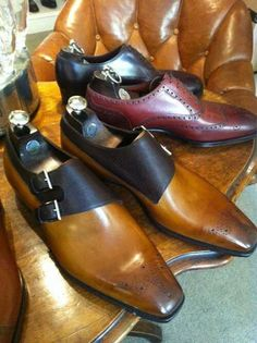 Gaziano Girling Shoes for Bespoke-England Oakham in Vintage Pine Calf Dark Brown Pin Grain on the Last. Mens Shoes Boots, Men's Shoes, Shoe Boots, Shoes Sneakers, Dress Shoes, Derby, Gentleman Shoes, Fashion Shoes, Mens Fashion