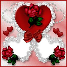 Transparent Double Love Hearts Photo Frame