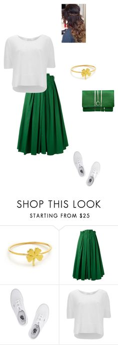 """""""Happy St. Patricks day"""" by modest-flute ❤ liked on Polyvore featuring Jennifer Meyer Jewelry, Rochas, Vans, Vero Moda and Torula Bags"""