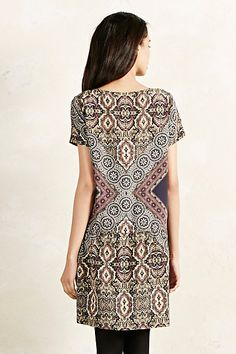 Scarf Print Silk Tunic - anthropologie.eu