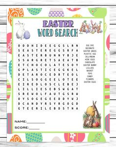 Easter Word Search, Fun Printable Easter Game, Word Find Activity, Ins – Enjoymyprintables Senior Citizen Center, Easter Party Games, Word Search Games, English Games, Easter Crafts, Easter Ideas, Trivia Questions, Activity Days, Cool Words