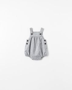 Image 1 of Checked romper suit from Zara