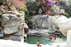 Swimming: Arizona, Slide Rock, Sedona.Take your turn on the 80-foot sliding rock or leap off a boulder into a deeper pool. This swimming hole has a variety of water features who want to cool off from the hot desert sun.