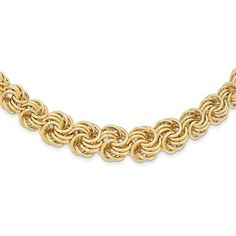 14k Polished 16in Graduating Circle Fancy Link Necklace / STYLE: SF2160-16 #14kFancyLinkNecklace #LinkNecklace #14k #Necklace