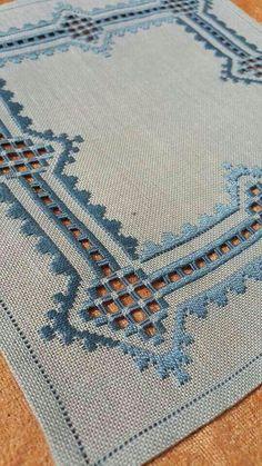 Hardanger Embroidery Design N Hardanger Embroidery, Learn Embroidery, Ribbon Embroidery, Cross Stitch Embroidery, Embroidery Patterns, Stitch Patterns, Doily Patterns, Dress Patterns, Weaving Techniques