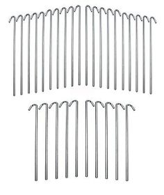 Tent and Canopy Accessories 36120 30-Piece Metal Galvanized Steel Tent Pegs Garden Stakes  sc 1 st  Pinterest & Tent and Canopy Accessories 36120: 100Pc Heavy Duty Steel Metal ...